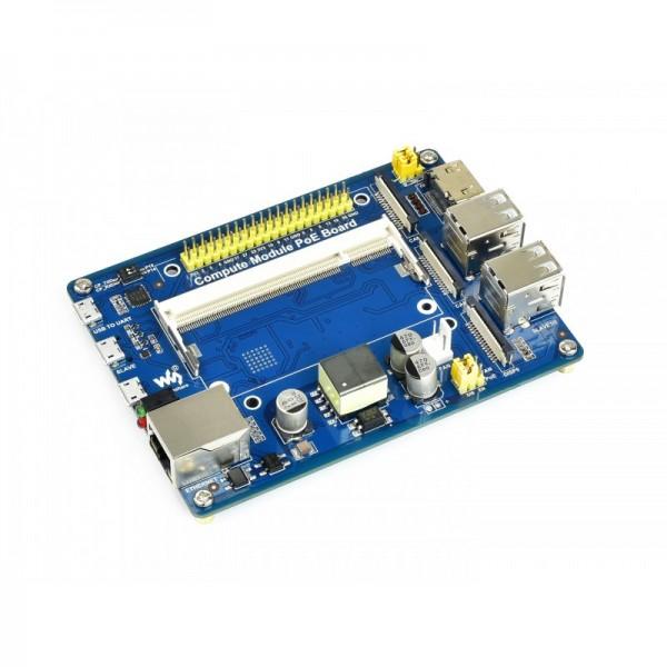 Compute Module IO Board mit Power over Ethernet (PoE) für Raspberry Pi CM3 / 3+