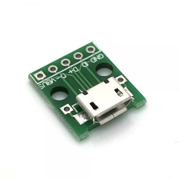Micro USB 2.0 Breakout Board - Micro B Buchse - Lötpads