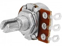 Drehpotentiometer, 100kΩ, liegend, mono, 6mm, Lötösen