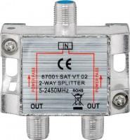 SAT-Verteiler, 2-fach, 5 - 2450 MHz