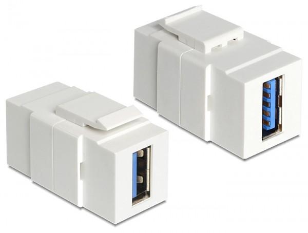 Keystone USB3.0 A Buchse > USB3.0 A Buchse weiß