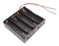 Batteriehalter für 4x 18650 mit Anschlusskabel