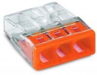 WAGO 2273-0203 COMPACT Verbindungsdosenklemme, 3 Fach, orange