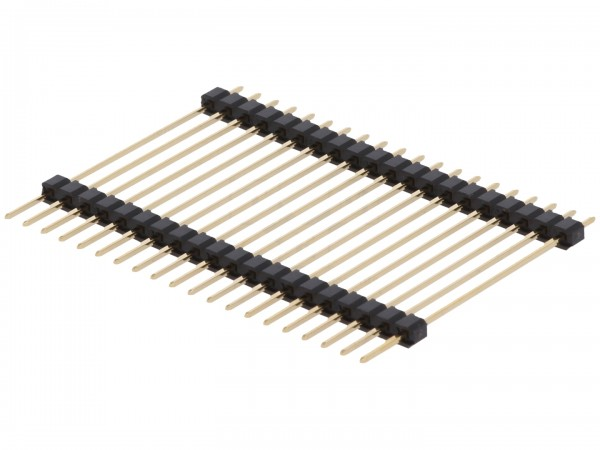 Stiftleiste, zweistöckig, 38mm, 1x 20-polig, RM 2,54, gerade