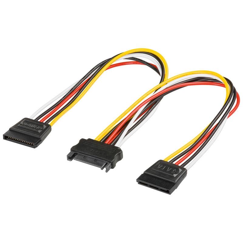 Mainboard-Stromverlängerung 8-polig EPS Stecker//Buchse 0,28m