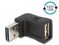 EASY USB 2.0 90° Winkeladapter A Stecker - A Buchse oben/unten schwarz