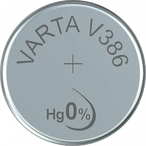 VARTA Silberoxid Uhrenbatterie V386 / SR43