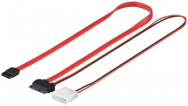 2in1 Slimline S-ATA Daten + Stromkabel