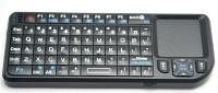 Mini Funk Tastatur mit Touchpad & Beleuchtung - schwarz, US Layout