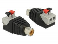 Adapter Cinchbuchse - Terminalblock mit Drucktasten 2 Pin