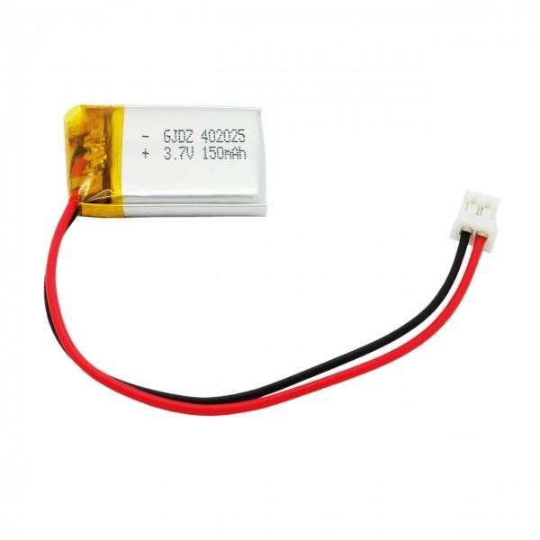 LP-405025 Lithium-Polymer / LiPo Akku, 3,7V, 150mAh mit 2 Pin JST Stecker