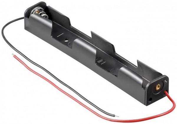 Batteriehalter für 2x Mignon AA 1+1 mit 150mm Anschlusskabel