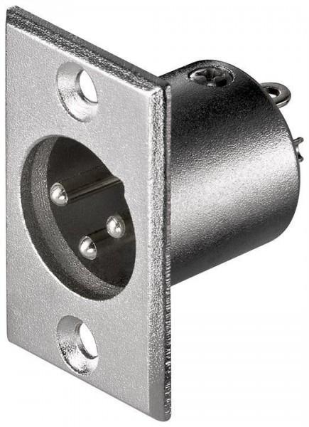 XLR-Einbaustecker, 3-polig