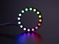 NeoPixel Ring - 16 x 5050 RGBW LEDs mit integrierten Treibern, Warmweiß