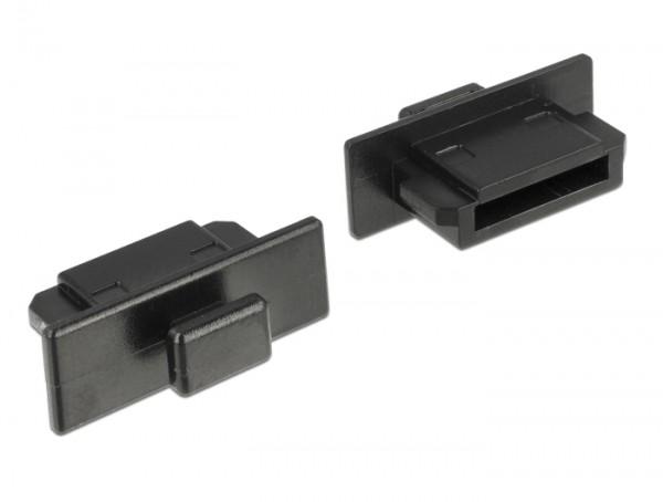 Staubschutz für eSATA Stecker mit Griff 10 Stück schwarz
