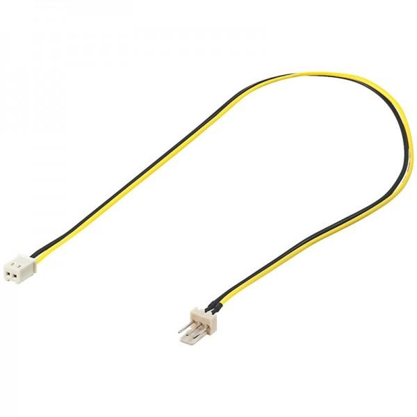 Lüfter Adapterkabel 3 pol. Stecker - 2 pol. Kupplung 0,30m