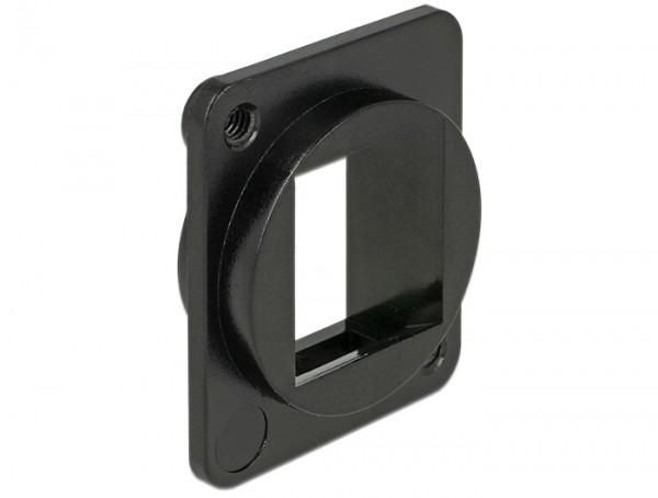 Keystone Halterung 1 Port D-Typ (XLR) schwarz