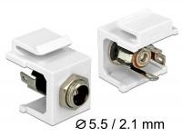 Keystone DC 5,5 x 2,1mm Buchse > Lötanschluss