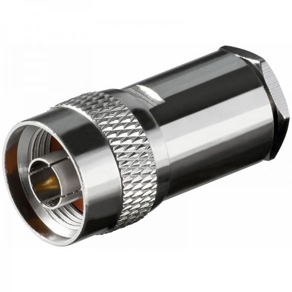 N-Stecker mit ø 5,2 mm für RG 58/U Kabel mit Goldpin, Lötversion