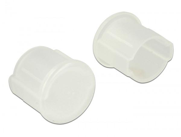 Staubschutz für BNC Buchse 10 Stück transparent