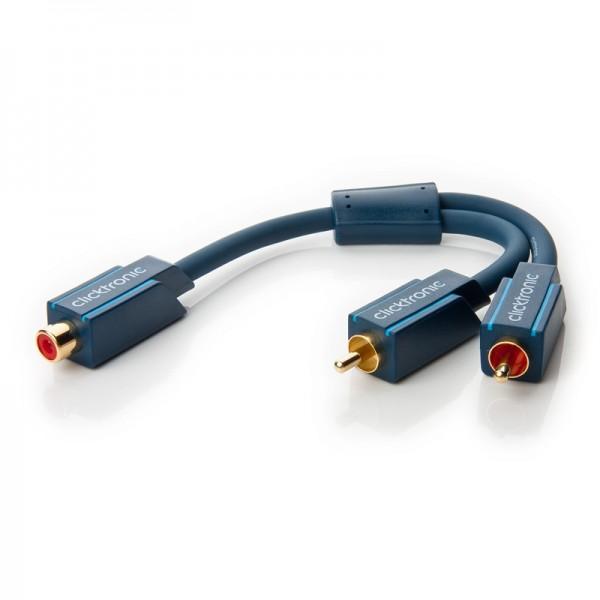 Clicktronic Casual Y-Cinch Adapter