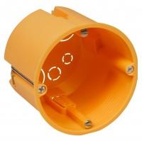 Hohlwanddose, Ø68x62mm, inkl. Geräteschrauben, orange