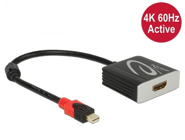 Adapter mini DisplayPort 1.2 Stecker - HDMI 2.0 Buchse schwarz 4K 60Hz Aktiv