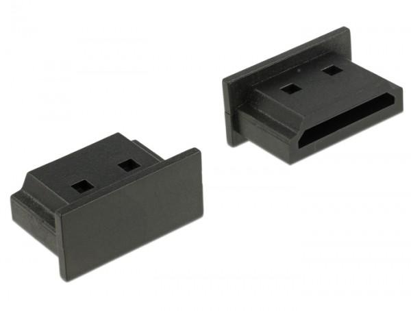 Staubschutz für HDMI A Buchse ohne Griff 10 Stück schwarz