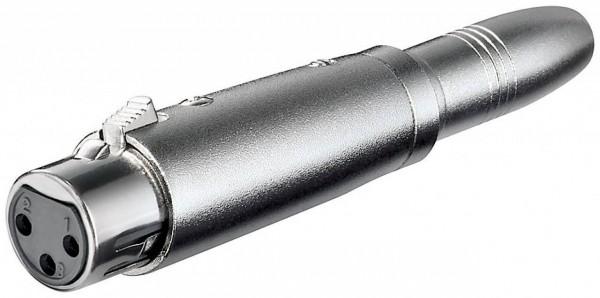 XLR-Adapter, XLR-Buchse (3-Pin) - 6,35mm Klinkenbuchse (2-Pin, Mono)