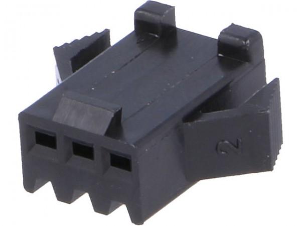 Steckverbinder Gehäuse kompatibel zu JST SMP-03V-BC, weiblich, 3 Pin, schwarz