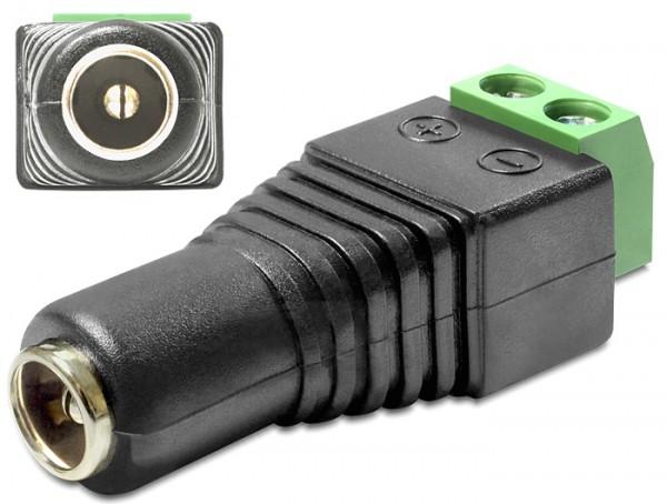 1 Stück 5,5 x 2,1mm DC Stecker Kupplung Steckverbinder