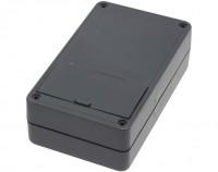 PVC Gehäuse mit Batteriefach für 4 Mignon Batterien, 123 x 72 x 39mm, schwarz