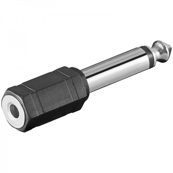 Klinken Adapter 3,5mm Mono Klinkenkupplung - 6,3mm Mono Klinkenstecker