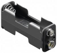 Batteriehalter für 2x Mignon AA 1/1 mit Druckknopfanschluss