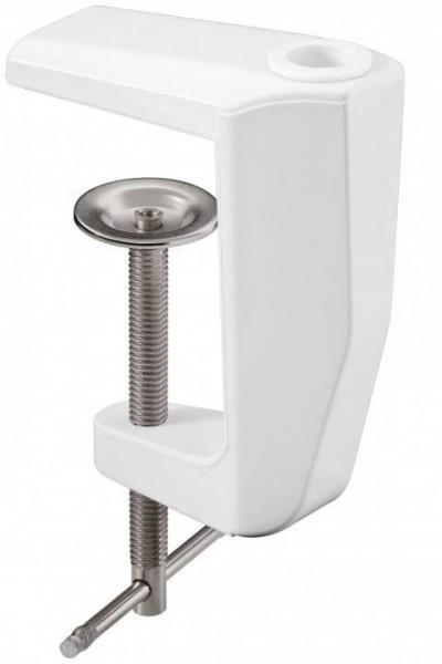 Ersatz Tischklemme für Lupenleuchten, 0-60 mm, weiß