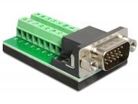 Adapter Terminalblock - D-Sub 15 Pin VGA Stecker