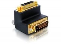 Adapter DVI-I 24+5 Pin Stecker - Buchse rechts gewinkelt