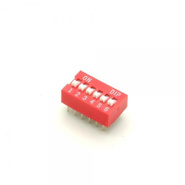 DIP-Schalter, 6-polig,rot