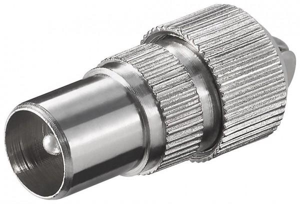 Koax-Stecker, Schraubbefestigung, Metallausführung
