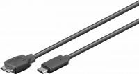 USB 3.0 Kabel, C Stecker – Micro-B 3.0 Stecker, schwarz
