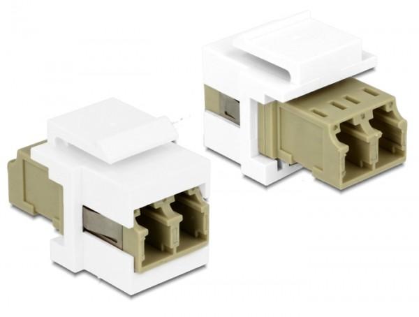 Keystone LC Duplex Buchse > Buchse MM