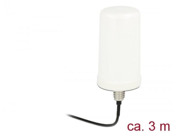WLAN Antenne RP-SMA 802.11 ac/a/h/b/g/n 0 dBi 3 m ULA100 omnidirektional weiß Outdoor