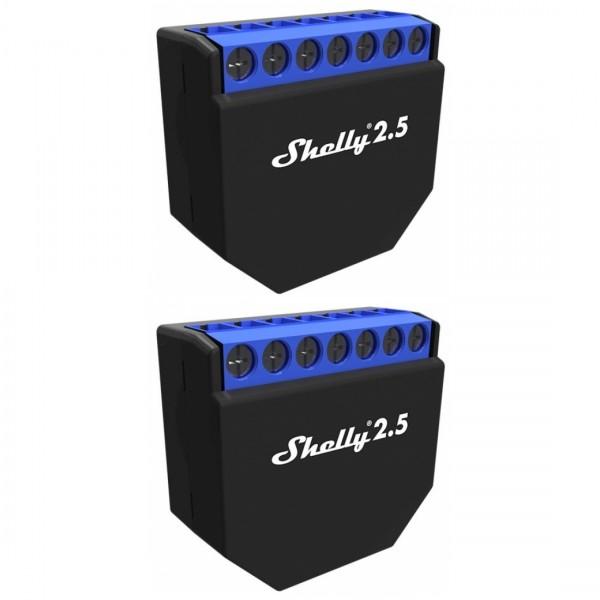 Shelly 2.5, Dual WLAN Schalter mit Messfunktion, 2er Pack