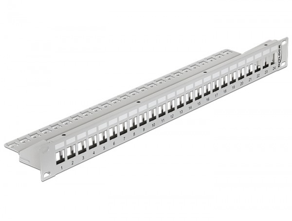Keystone 19 Patchpanel 24 Port grau