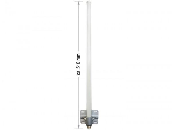 WLAN 802.11 b/g/n Antenne N Buchse 8 dBI omnidirektional starr grau outdoor