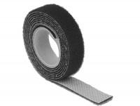 Kabelbinder, Klettverschluss L 1 m x B 13 mm Rolle schwarz
