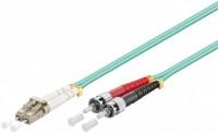 LWL Kabel Multimode OM3, LC-Stecker (UPC) > ST-Stecker (UPC), türkis