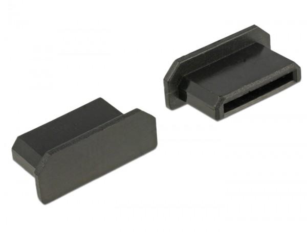 Staubschutz für HDMI mini-C Buchse ohne Griff 10 Stück schwarz