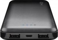 Slimline Powerbank, 10.000mAh, 2 USB Ausgänge, schwarz