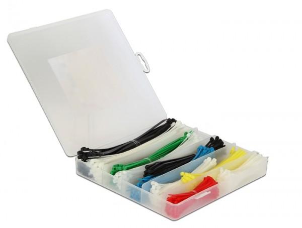 Kabelbinder Sortimentsbox 600-teilig farbig